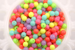 8mm Neon Gumball Bubblegum Resin Beads - 150 pc set