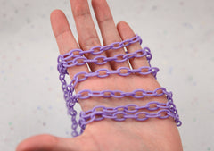 13mm Purple Acrylic or Plastic Chain - 16.5 inch length / 42 cm length - 3 pcs set