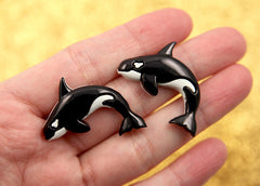 33mm Orca or Killer Whale Resin Cabochons – 6 pc set