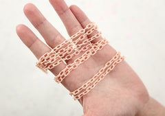 7mm Delicate Plastic Chain - 70cm long - 2 pcs set