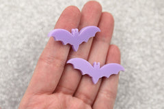 45mm Purple Bats Acrylic or Resin Cabochons - 6 pc set