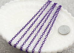 5mm Purple Enamel Chain - 10 feet / 3 meters