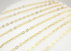 4mm Tiny n' Perfect Gold Tone Brass Chain - 10 feet / 3 meters