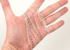 4mm Tiny n' Perfect Silver Tone Brass Chain - 10 feet / 3 meters