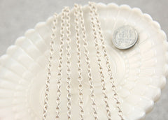 5mm White Enamel Chain - 10 feet / 3 meters