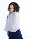 Wrap Away Scarf/Shawl in Grey/White