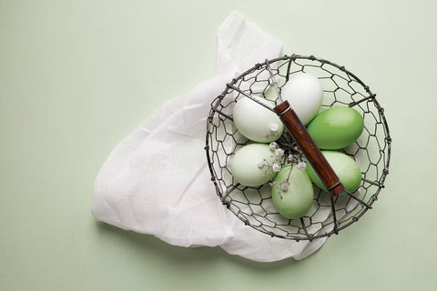 Matcha dyed Easter Eggs