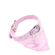 collier bandana rose pâle
