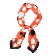 foulard carré à pois orange