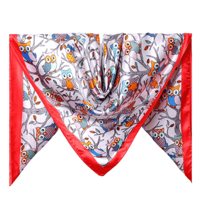 foulard cheveux rouge