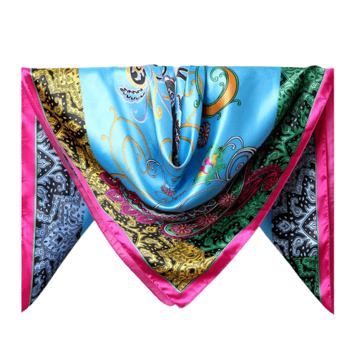 foulard cheveux multicolore
