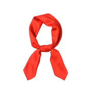 foulard carré rouge