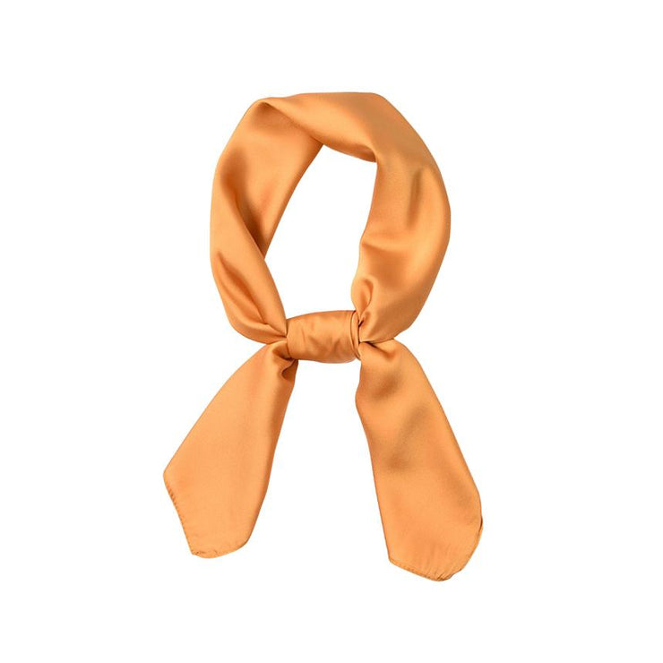 foulard carré orange