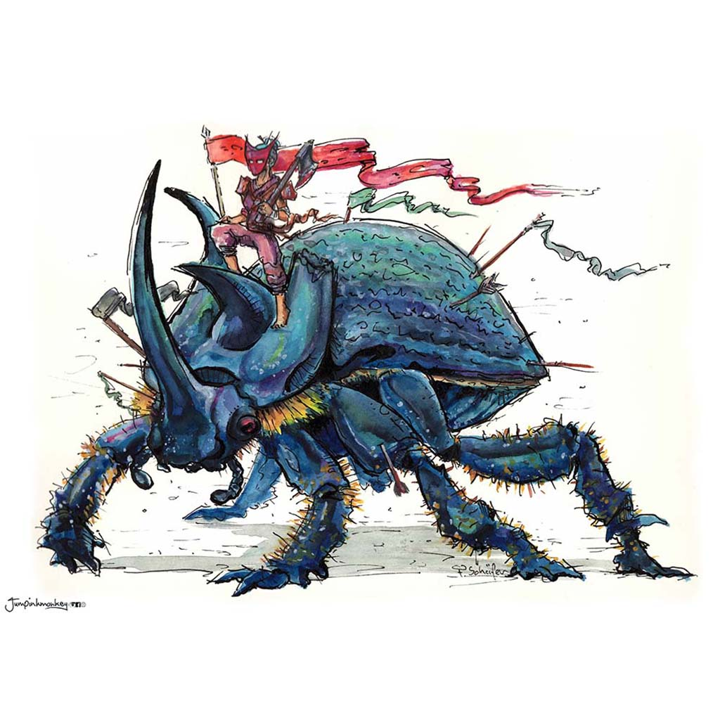 'Warrior Beetle' Art Print