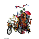 'Monkey Travels' Art Print