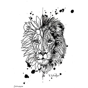 'Two Faced Lion' Art Print