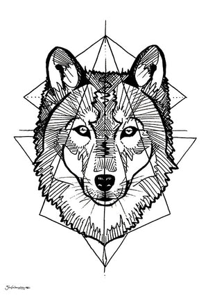 Prisma wolf geometric shapes