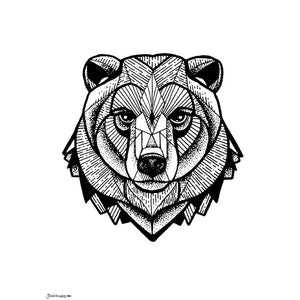 'Geometric Bear' Art Print