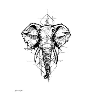 'Elephant Sketch' Art Print