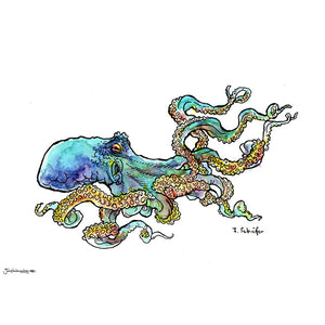 'Watercolor Octopus' Art Print