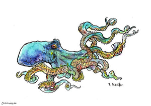 Watercolor octopus
