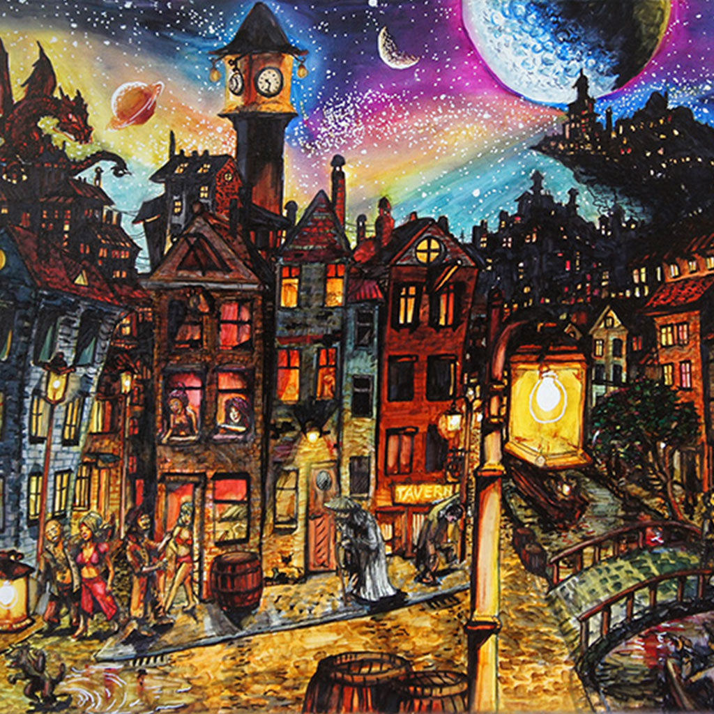 'Amsterdam Night' Art Print