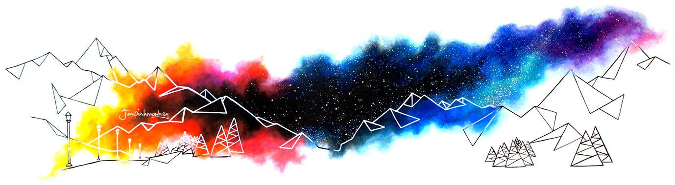 'Big Mountain Sky' Art Print