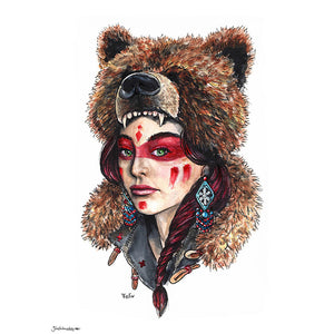'Bear Woman' Art Print