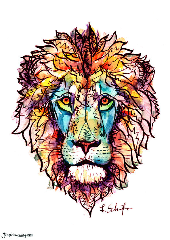'Red Lion' Art Print