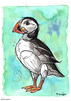 'The Puffin' Art Print