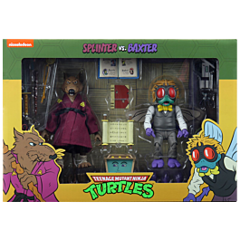 "NECA -  TMNT - Splinter & Baxter Stockman 7"" Action Figure 2-pack 