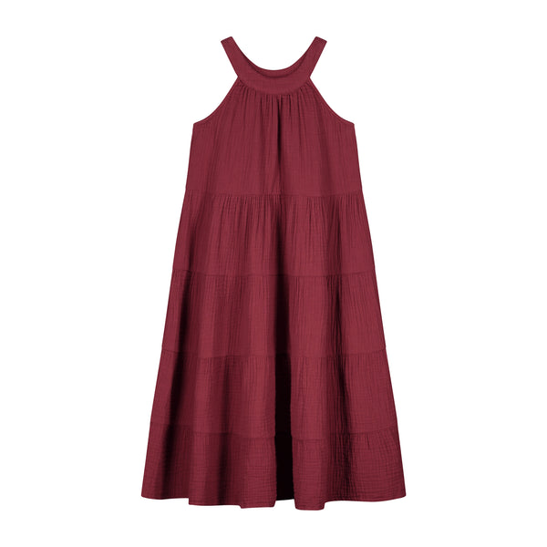 DOLLY MAXI DRESS - RICH ROSEWOOD