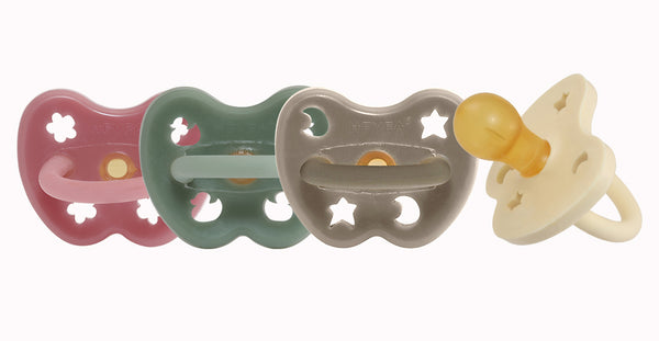 Hevea dummy pacifier uk grey natural rubber round teat