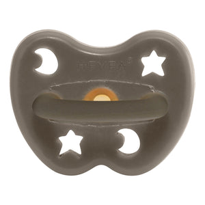 Hevea dummy pacifier uk grey natural rubber plastic free