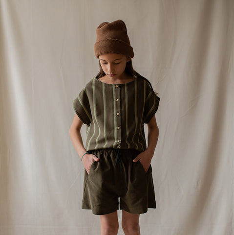 Monkind UK shorts Organic Sustainable Conscious Olive Green