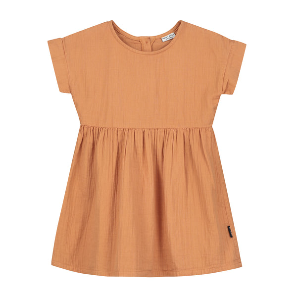 Daily Brat UK Organic cotton brown dress sustainable conscious minimalist daisy