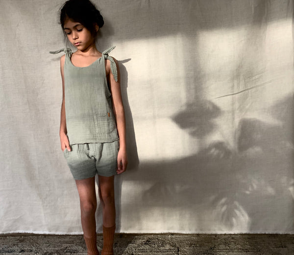 nixnut green top coords Cotton Sustainable Conscious UK girls