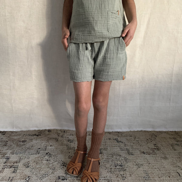 nixnut green shorts coords Cotton Sustainable Conscious UK
