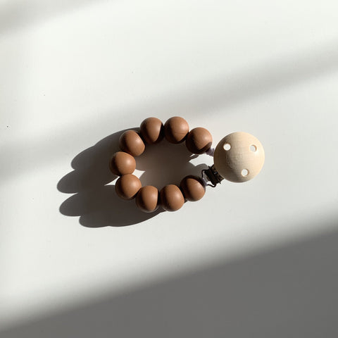 dummy pacifier clip dove and dovelet uk silicone plastic free brown