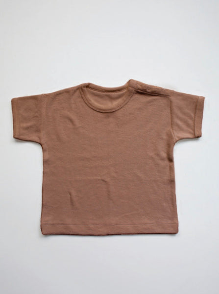 THE TERRY BOXY TEE - CINNAMON