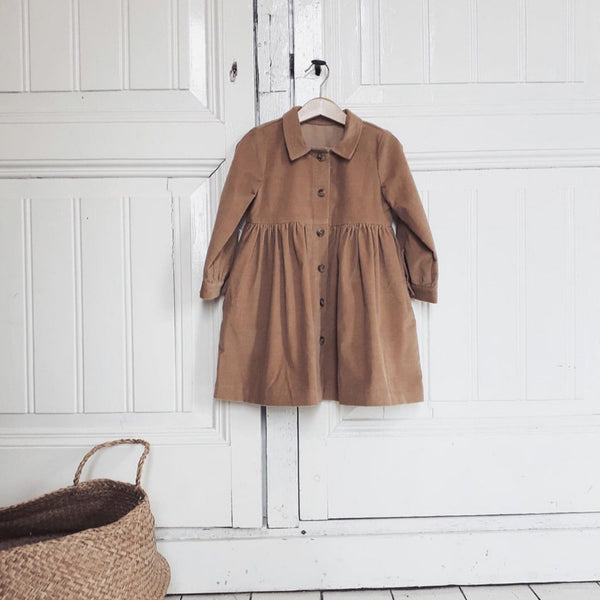 BROOKE CORDUROY DRESS - KHAKI