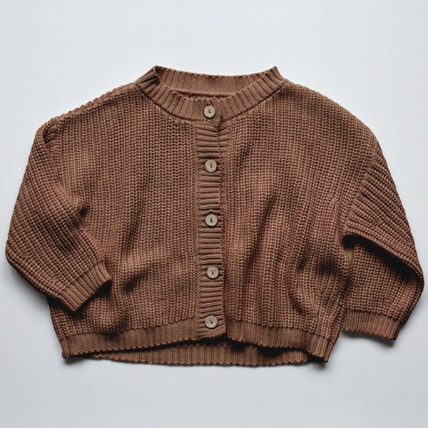 THE CHUNKY CARDIGAN - MOCHA