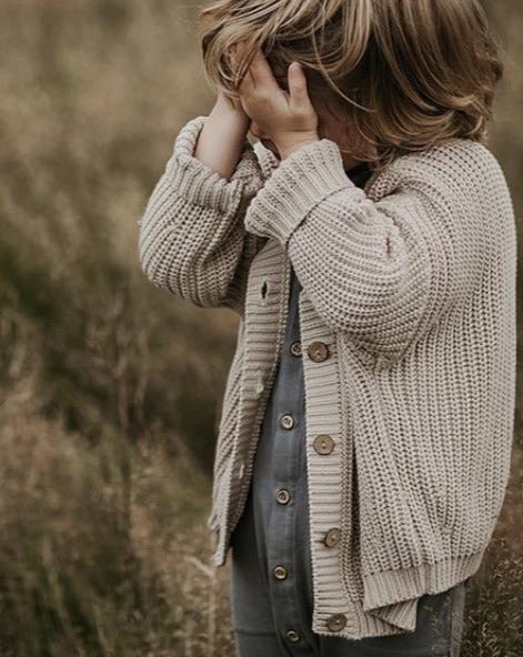 PREORDER - THE CHUNKY CARDIGAN - OATMEAL