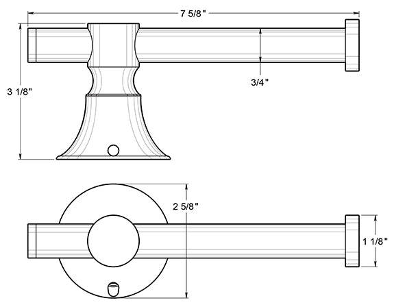 Deltana 88STPH Toilet Paper Holder Dimensions