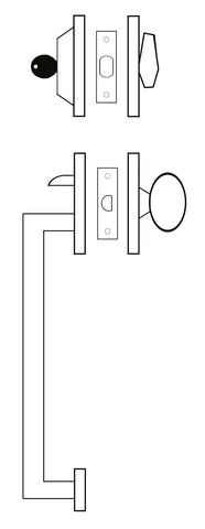 Single Cylinder Handleset Graphic