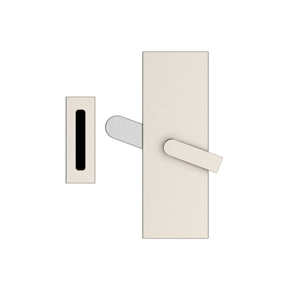 Emtek Modern Rectangular Barn Door Privacy Lock with Strike
