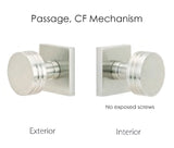 Emtek Modern Square Knob Set - Passage