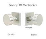Emtek Bronze Modern Square Knob Set - Privacy