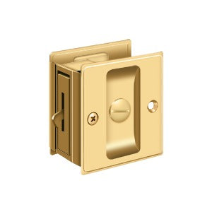 Deltana SDL25 Privacy Pocket Lock - Solid Brass