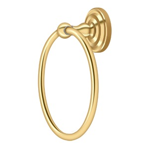 "Deltana R2008 6-1/2"" Towel Ring - Solid Brass"